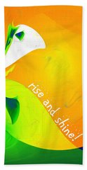 Hand Towel featuring the digital art Rise And Shine by Methune Hively