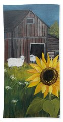 Hand Towel featuring the painting Rise And Shine by Virginia Coyle