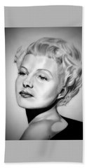 Rita Hayworth Hand Towel by Fred Larucci