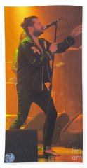 Hand Towel featuring the photograph Rival Sons Jay Buchanan by Jeepee Aero
