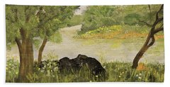 River Bend In Spring Hand Towel