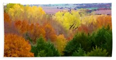River Bottom In Autumn Hand Towel