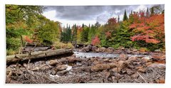 Hand Towel featuring the photograph River Debris At Indian Rapids by David Patterson