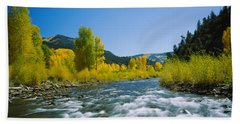 River Flowing In The Forest, San Miguel Bath Towel