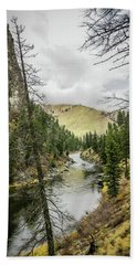 River In The Canyon Hand Towel