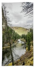 River In The Canyon Bath Towel