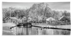 River In The Snow Hand Towel