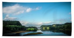 Bath Towel featuring the photograph River Islands by Marvin Spates