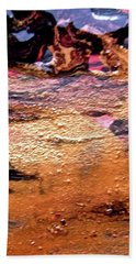 River Of Gold Hand Towel by Stephanie Moore