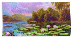 The Wonder Of Water Lilies Hand Towel