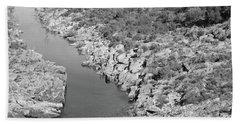 River On The Rocks. Bw Version Bath Towel