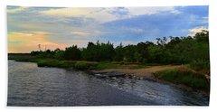 River Road Park At Dusk Hand Towel