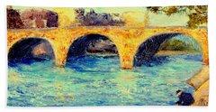 River Seine Bridge Bath Towel