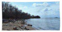Delaware River Shoreline Hand Towel