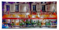 Bath Towel featuring the photograph River Street Sweets Candy Store Savannah Georgia   by Alex Grichenko