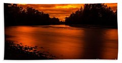 River Sunset 2 Bath Towel