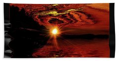 River Sunset Hand Towel