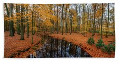 River Through Autumn Hand Towel