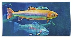 River Trout Bath Towel