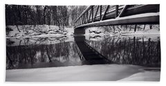 River View B And W Hand Towel