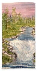 River With Falls Hand Towel