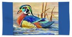 River Wood Duck Hand Towel