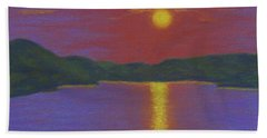 Riverboat Sunset Bath Towel