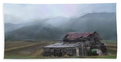 Bath Towel featuring the photograph Riverside Barn by Mary Timman