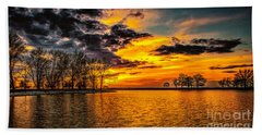 Hand Towel featuring the photograph Riverview Beach Park Sunset by Nick Zelinsky