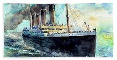 Rms Titanic White Star Line Ship Hand Towel