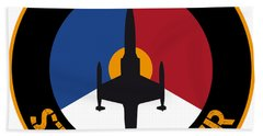 Hand Towel featuring the painting Rnlaf F-104 Starfighter by Nop Briex