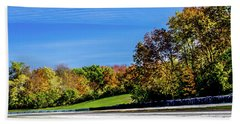 Road America In The Fall Hand Towel