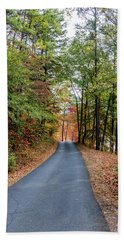Road In The Woods Bath Towel