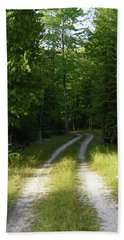 Road Into The Woods Bath Towel