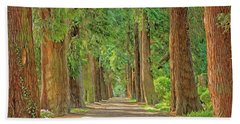 Bath Towel featuring the painting Road Less Traveled by Harry Warrick