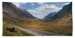 Road Through Glencoe Hand Towel