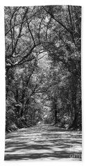 Road To Angel Oak Grayscale Bath Towel