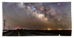 Road To Milky Way Bath Towel