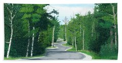 Road To Northport - Summer Hand Towel