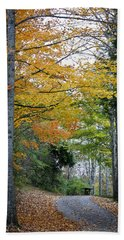 Road To The Cabin Bath Towel