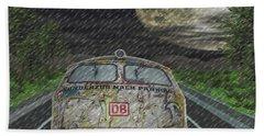 Bath Towel featuring the digital art Road Trip In The Rain by Angela Hobbs
