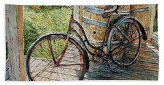 Bath Towel featuring the painting Roadmaster Bicycle 2 by Joey Agbayani