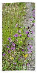 Roadside Flowers Bath Towel