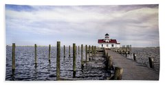 Roanoke Lighthouse - Manteo North Carolina Hand Towel