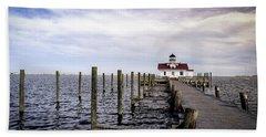 Roanoke Lighthouse - Manteo North Carolina Bath Towel
