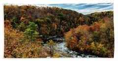 Roanoke River Blue Ridge Parkway Bath Towel by Thomas R Fletcher