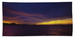 Roatan Sunset Hand Towel by Stephen Anderson