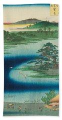 Robe-hanging Pine, Senzoku Pond Hand Towel