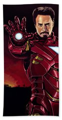 Robert Downey Jr. As Iron Man  Hand Towel