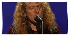 Robert Plant 001 Bath Towel by Sergey Lukashin
